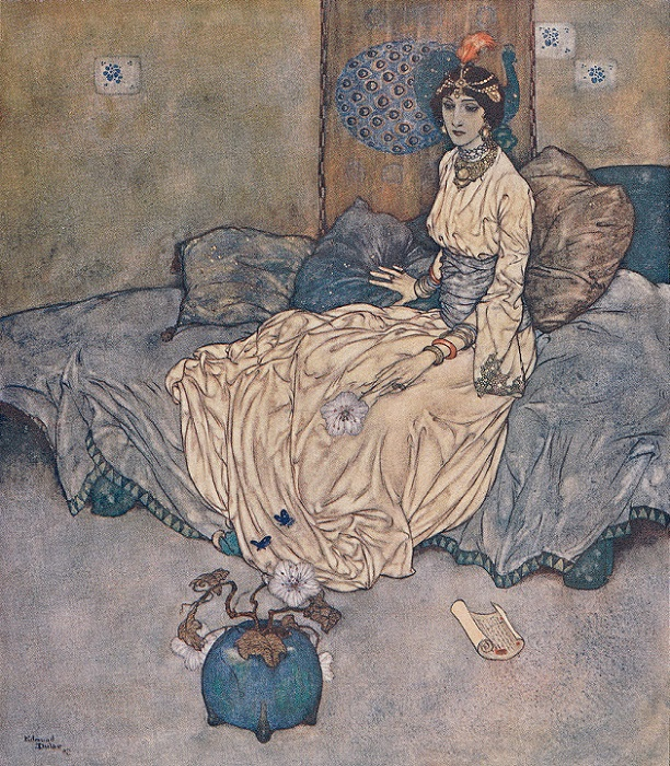 Сборник арабских сказок стал европейским хитом на века. Иллюстрация Эдмунда Дюлака.