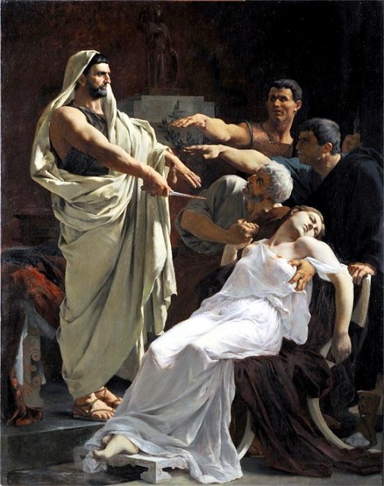 «Клятва Брута над телом Лукреции». Автор: Анри Пинта.